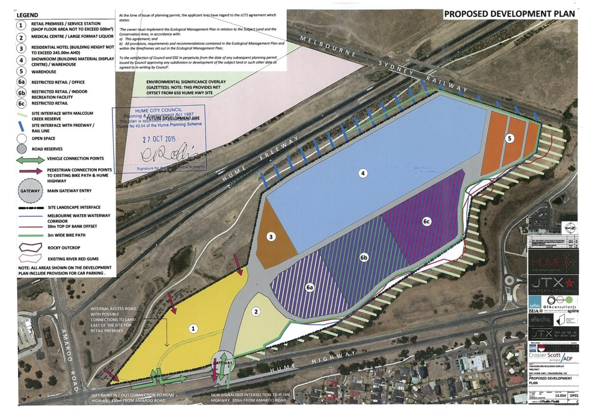 Approved Development Plan 27 October 2015